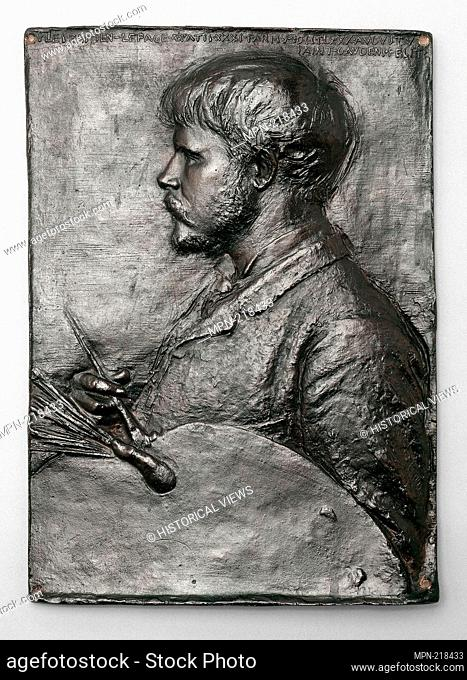 Jules Bastien-Lepage - modeled in 1880, cast in copper and bronze 1881 - Augustus Saint-Gaudens American, born Ireland, 1848-1907 Cast by Magee Furnace Company...