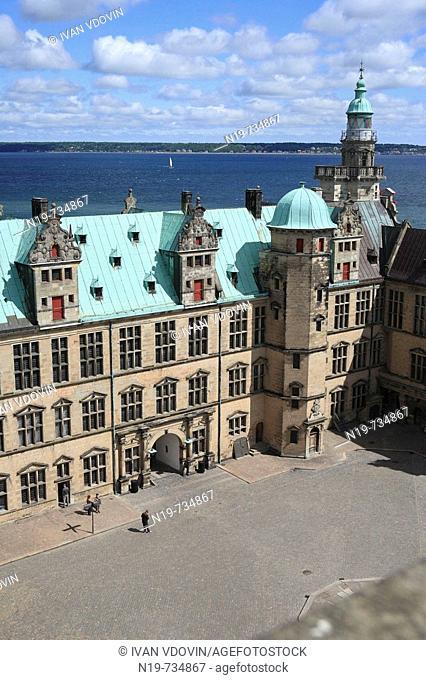 Kronborg palace (Hamlet's Elsinore Castle), 1574-1585, Helsingor, Zealand, Denmark