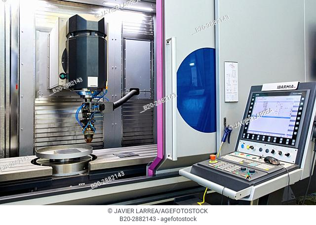 Machining center, 3D printing machine for the industry, it allows to create large metal parts from scratch and to finish them to great precision