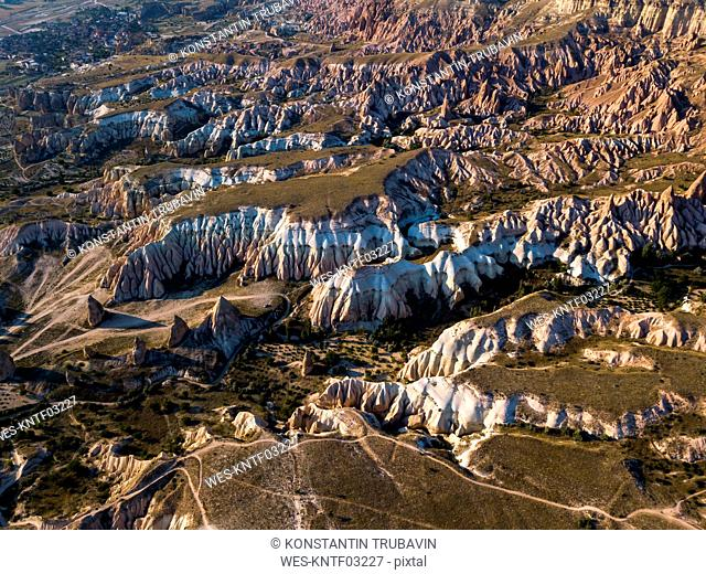 Aerial view of Red valley at Cappadocia, Turkey