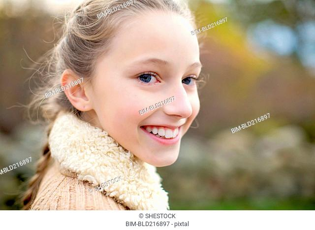 Close up of smiling girl