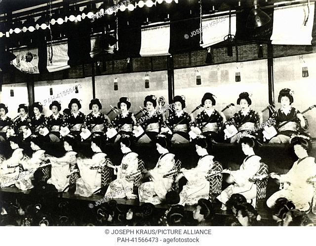 Theatre - Kabuki-za. Pictured in the early 1920th. - /Japan