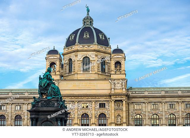 Austria, Vienna, Naturhistorisches Natural History Museum, Maria Theresa statue, inaugurated 1888