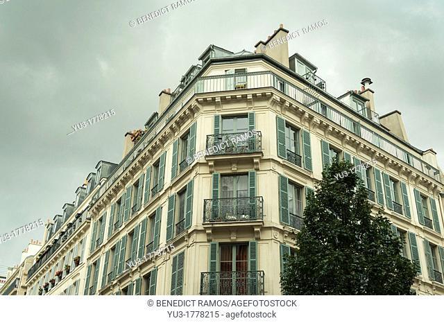 Rue de Rivoli apartment block, Paris, France