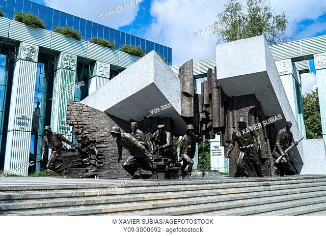 Heroes of the Warsaw Uprising Monument, Warsaw, Poland