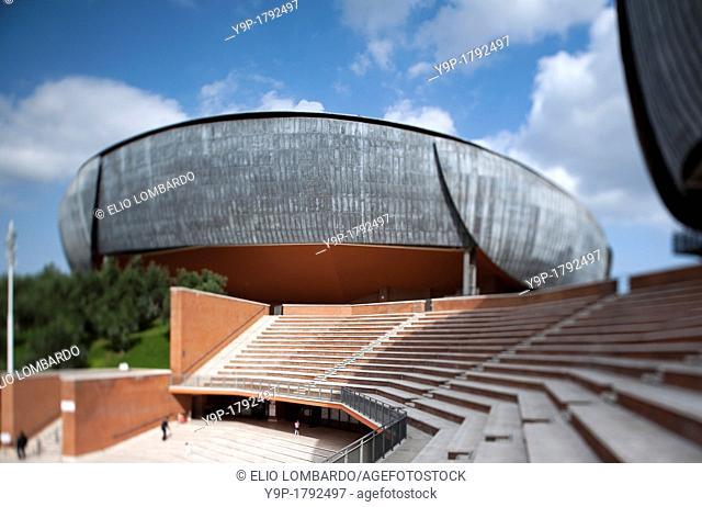 Auditorium Parco della Musica, designed by architect Renzo Piano  Rome, Italy, Europe