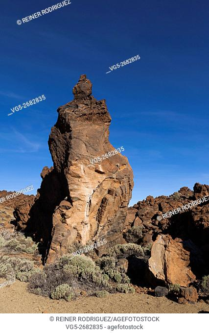Impression from the crater of the volcano Teide, Tenerife, Canary Islands, Spain