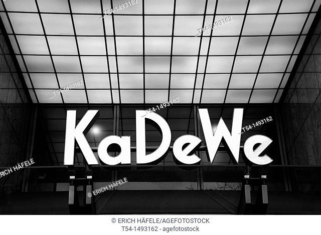 Logo from the KaDeWe in Berlin