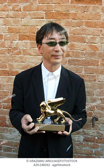 Japanese architect Toyo Ito with a Golden Lion. Venice