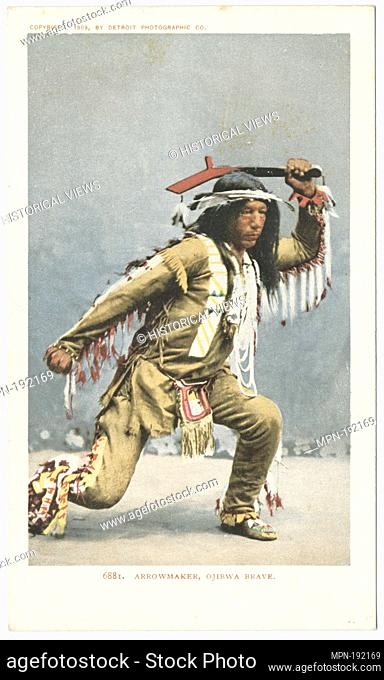 Arrowmaker, Ojibwa Brave. Detroit Publishing Company postcards 6000 Series. Date Issued: 1898 - 1931 Place: Detroit Publisher: Detroit Publishing Company Date...