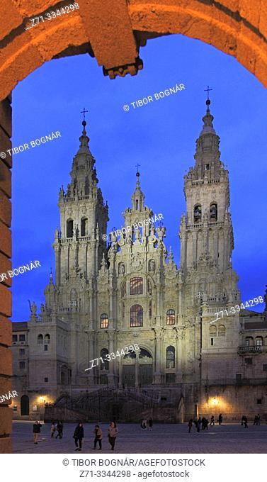 Spain, Galicia, Santiago de Compostela, Cathedral,