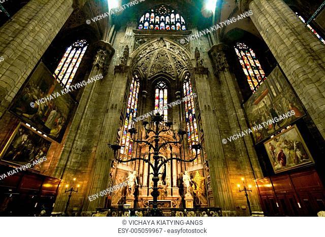 Interior of Milan Duomo