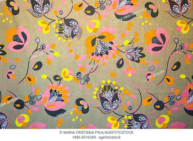 Detail of vintage fabric pattern