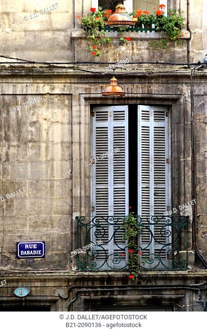 Rue Dabadie, Saint Michel area, at Bordeaux, Gironde, Aquitaine, France