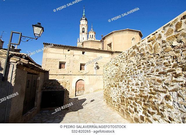 Iglesia de Santa Mari'a (XIII - XIV), destaca torre mudejar (XVI); Ateca; Comarca Comunidad de Calatayud; Zaragoza; Arago'n; Espan~a