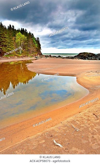 Seashore near St. Daniel, Baie des Chaleurs, Gaspe, Quebec, Canada