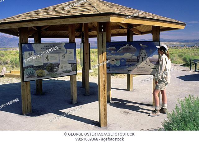 Kiosk at South Tufa Area, Mono Lake State Reserve, Mono Basin National Scenic Area, California