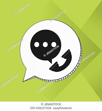 social network concept with icon design, vector illustration 10 eps graphic