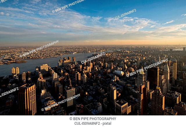 View from Empire State Building of Manhattan, New York City, USA