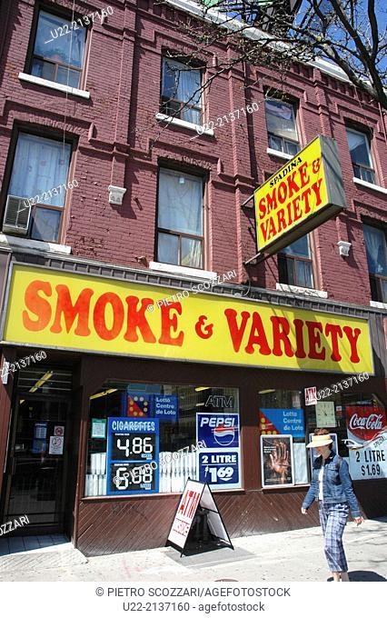 Toronto Canada: tobacco shop in Spadina