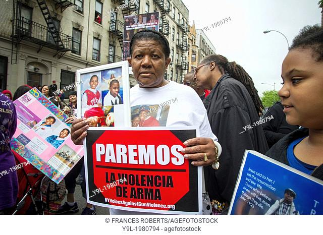 Hundreds march through the streets of the South Bronx in New York for the Moms Demand Action for Gun Sense Hundreds march through the streets of the South Bronx...