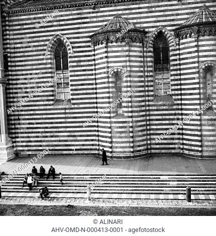Exterior of the Cathedral of Orvieto (XIII - XVI century), shot 05/1973 by Orioli Maria