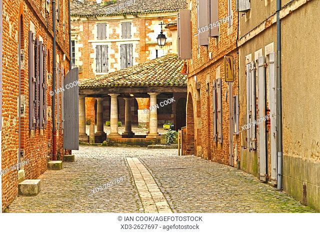 Rue du Chateau, Auvillar, Tarn-et-Garonne Department, Midi-Pyrenees, France