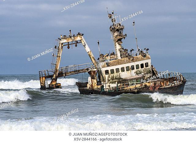 Shipwreck. Skeleton Coast National Park. Namibia. Africa