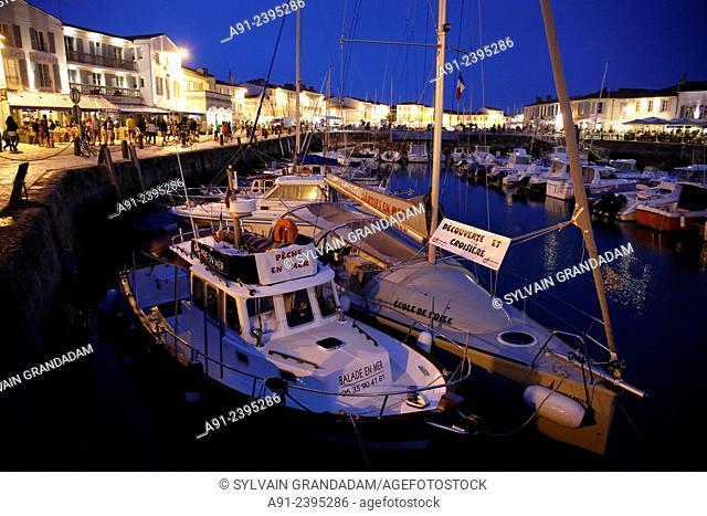 France, Poitou-Charente region, Charente maritime departement (17), Re island (Ile de Re), city and harbour of Saint Martin