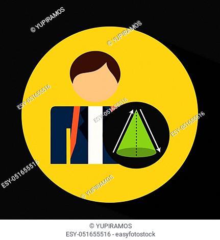 student uniform school geometri triangle design vector illustration eps 10