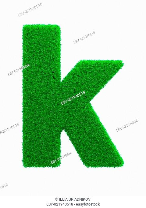 Grass Letter Isolated on White