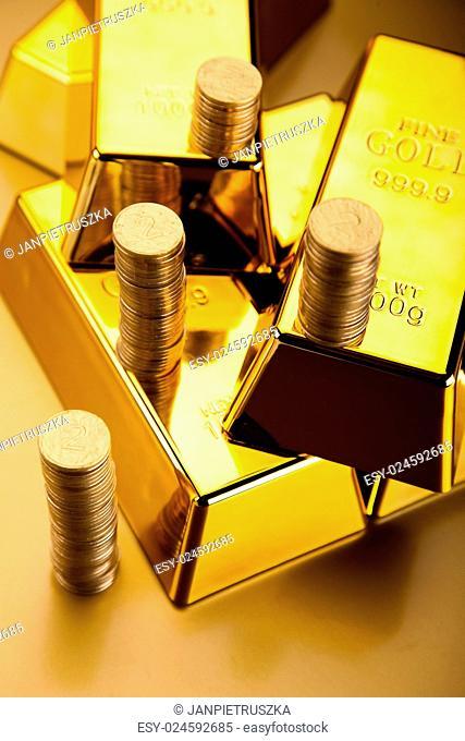 Golden Bar, ambient financial concept