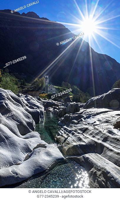 Verzasca river, Lavertezzo, Canton Tessin, Switzerland