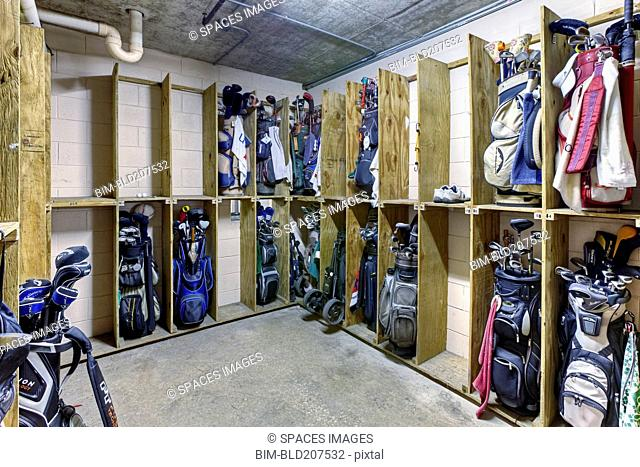Storage Room for Golf Clubs
