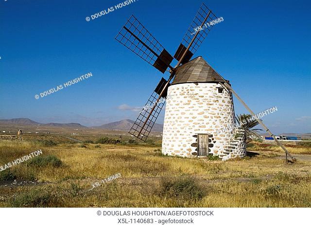 VALLES DE ORTEGA FUERTEVENTURA Traditional Fuerteventuran rural windmill