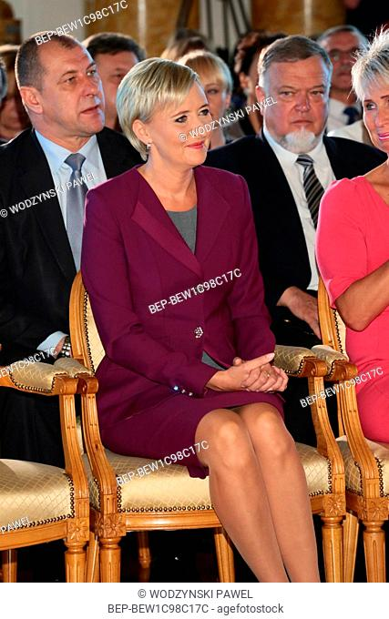 September 29, 2016. Royal Castle in Warsaw, Poland. Lodolamacze Gala. In the picture: the First Lady Agata Kornhauser-Duda