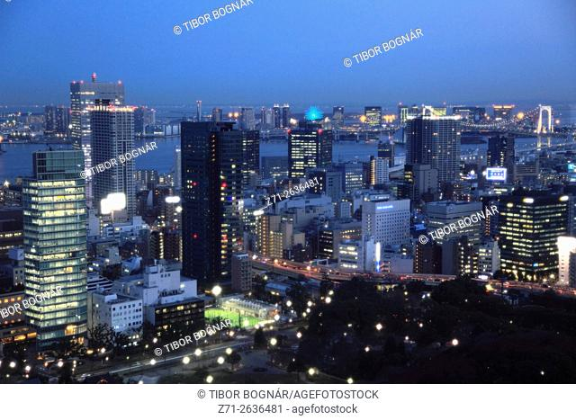 Japan, Tokyo, harbour, skyline,