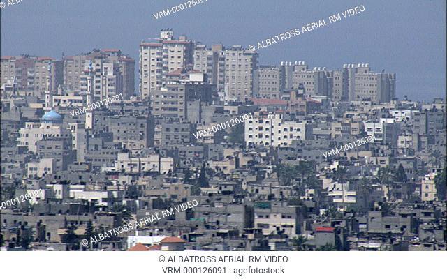 Aerial footage of the Gaza Strip