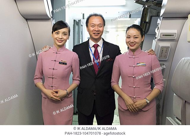 Cabin crew at the New China Southern Airlines flight from London to Wuhan that took off from Heathrow Airport on 30 May at 22:10pm and arrived to Wuhan Airport...