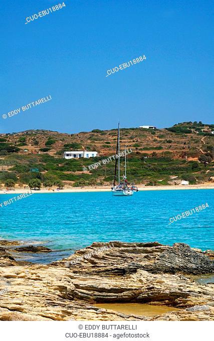 Hoclahoura Beach, Lipsi island, Dodecanese, Greece, Europe
