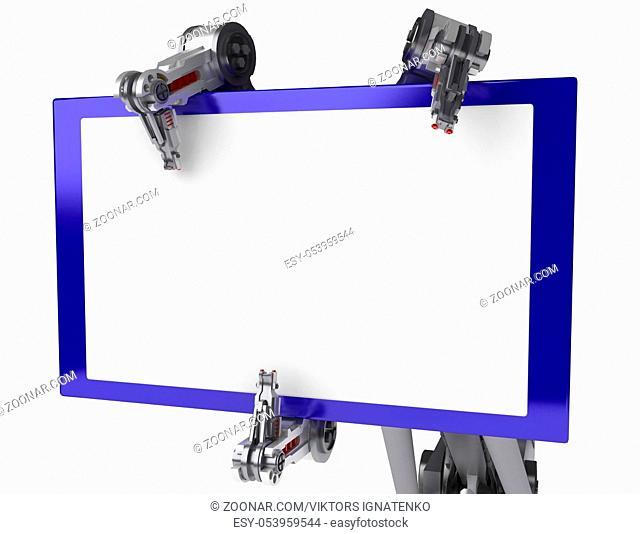 3d robotic arm, over white