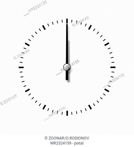 Clock without numbers isolated on white background