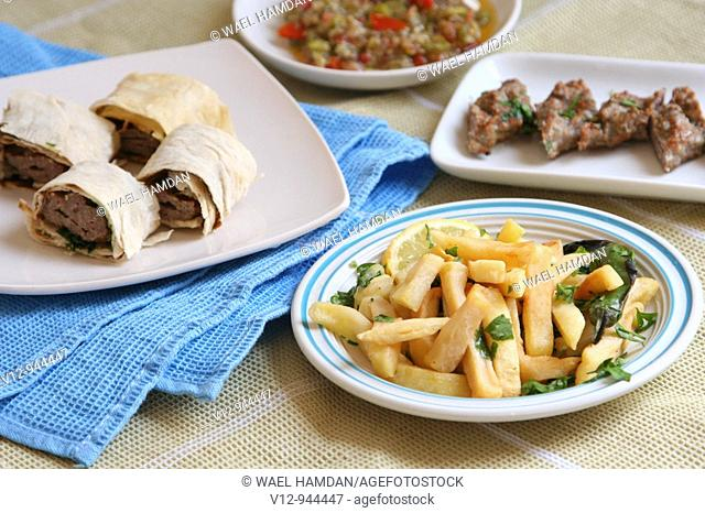 Arabic Kofta on bread
