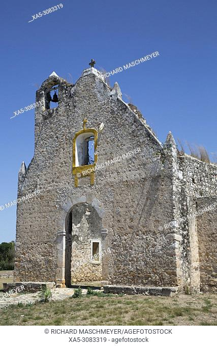 Ruined Church of Pixila, Completed 1797, Cuauhtemoc, Yucatan, Mexico