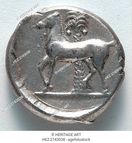 Tetradrachm: Persephone (reverse), 380 BC. Creator: Unknown