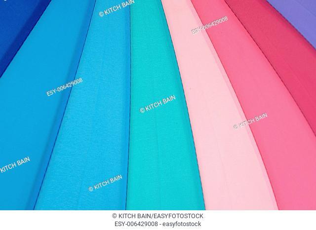A close up shot of a colourful umbrella