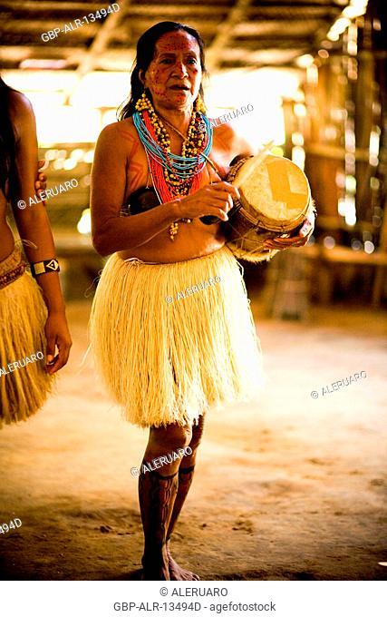 Indian, Dessano Tribe, Tupé Community, Manaus, Amazônia, Amazonas, Brazil