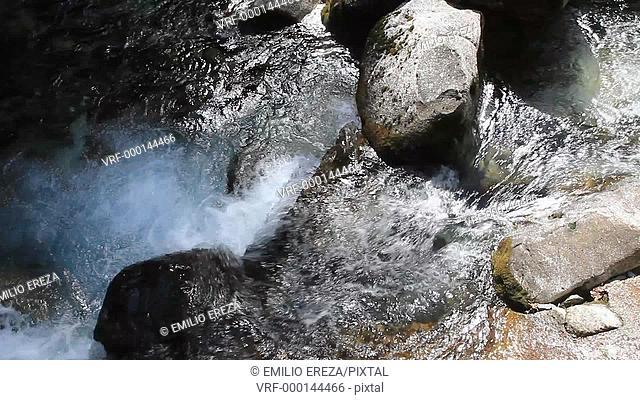 Waterfalls. Valle de Aran. Lleida, Catalonia, Spain