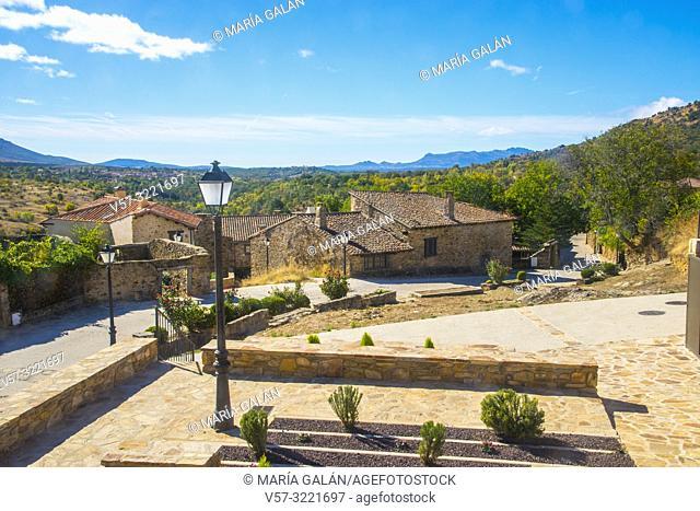 Landscape from the village. Horcajuelo de la Sierra, Madrid province, Spain