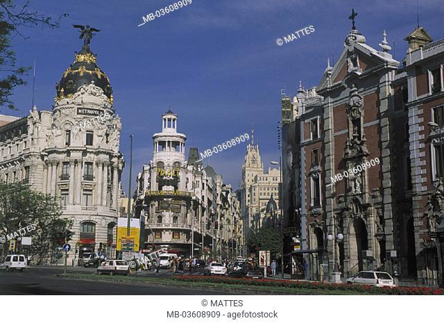 Spain, Madrid, grain via